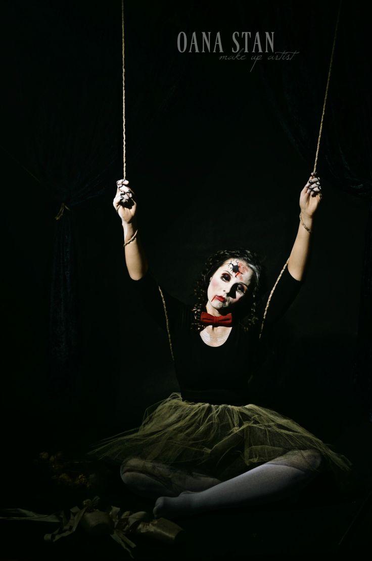 OANA STAN | Halloween make-up: Balerina prizoniera pe scena | http://oanastan.ro
