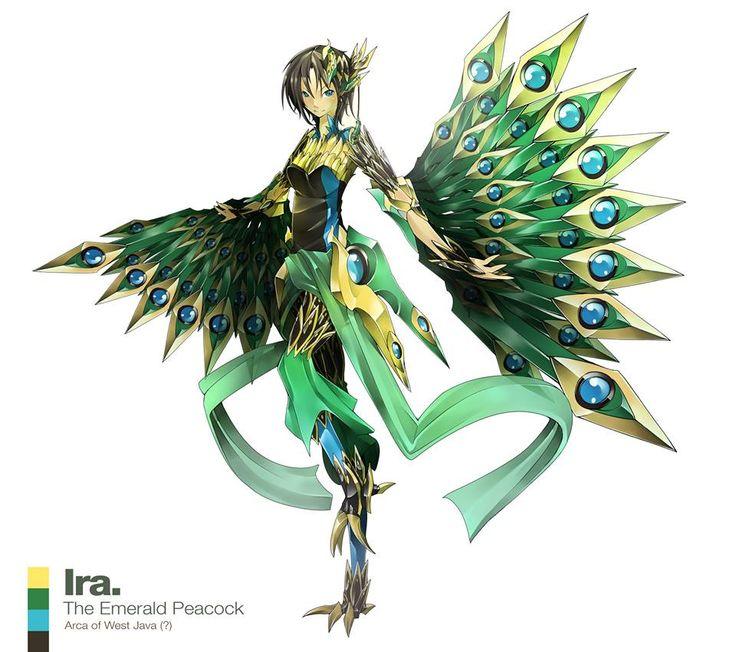 Ira / The Emerald Peacock / Arca of West Java (Indonesia)