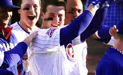 Anthony Rizzo...haha I love his Swag ❤️ Go Cubs!!...