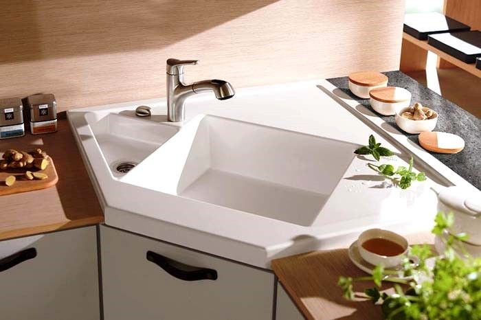 5 Reasons Why The Corner Sink Is The Right Fit For Your Kitchen Corner Sink Kitchen Modern Kitchen Sinks Corner Sink