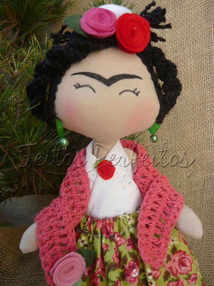 Tilda By Feitos Perfeitos: Frida Kahlo dolls