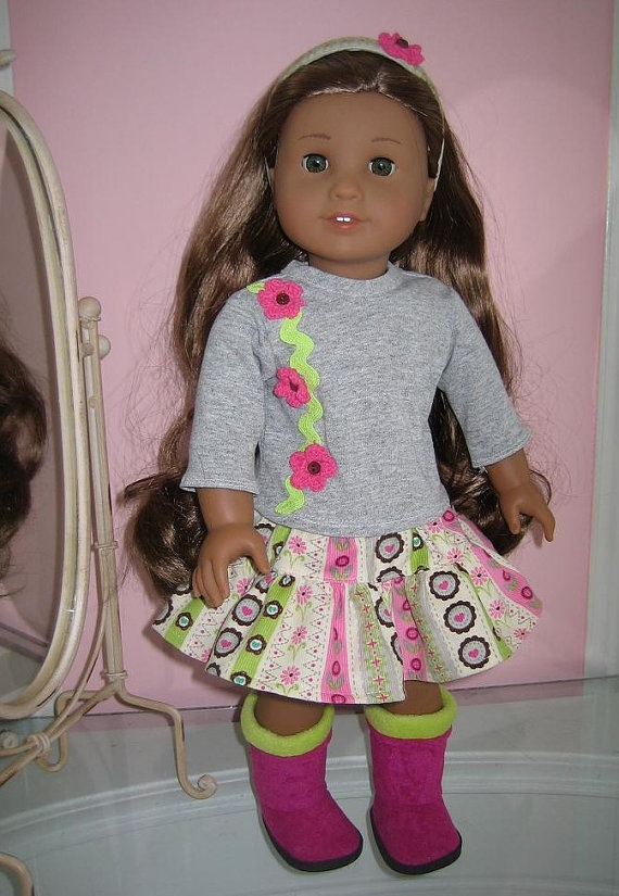 Inch American Girl Doll Clothes Gathered Skirt