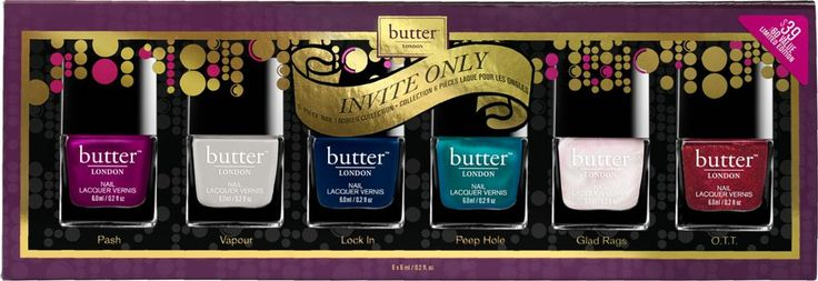 Butter London Invite Only 6 Pc. Nail Lacquer Collection Ulta.com - Cosmetics, Fragrance, Salon and Beauty Gifts