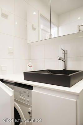 how to hide washing machine in bathroom