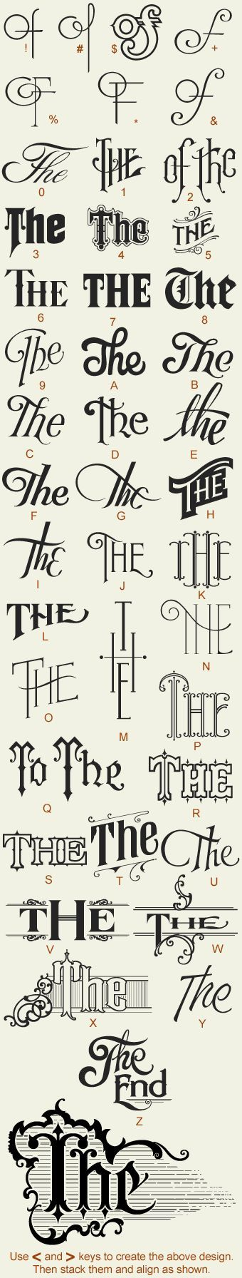 Custom letter typography