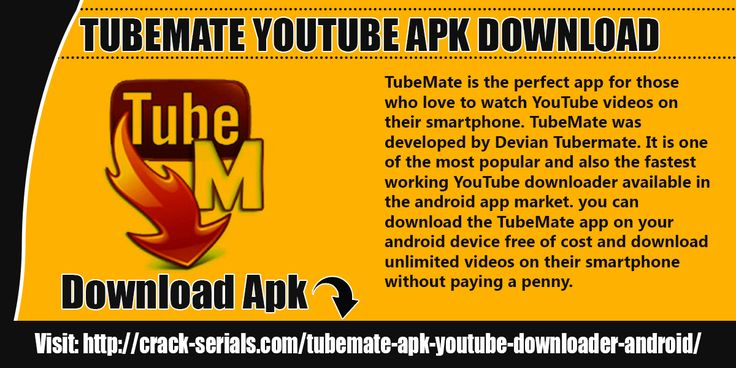 TubeMate is the perfect app for those who love to watch YouTube videos on their smartphone. TubeMate was developed by Devian Tubermate.