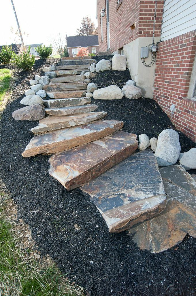 Pin by inch 39 s landscaping on what we do pinterest for Natural rock landscaping