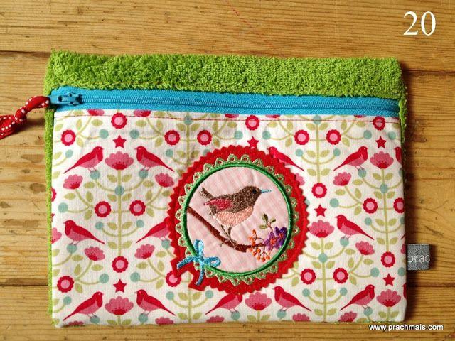 Detaillierte Anleitung zum Nähen einer kleinen Tasche mit Futter und Reißverschluss