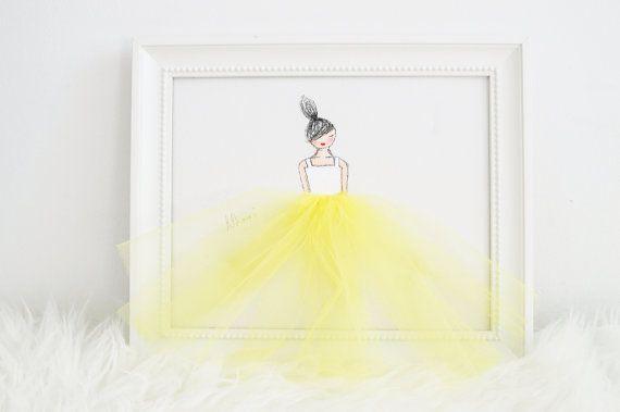 Ballerines Art Decor de chambre de la jeune par ShenasiConcept