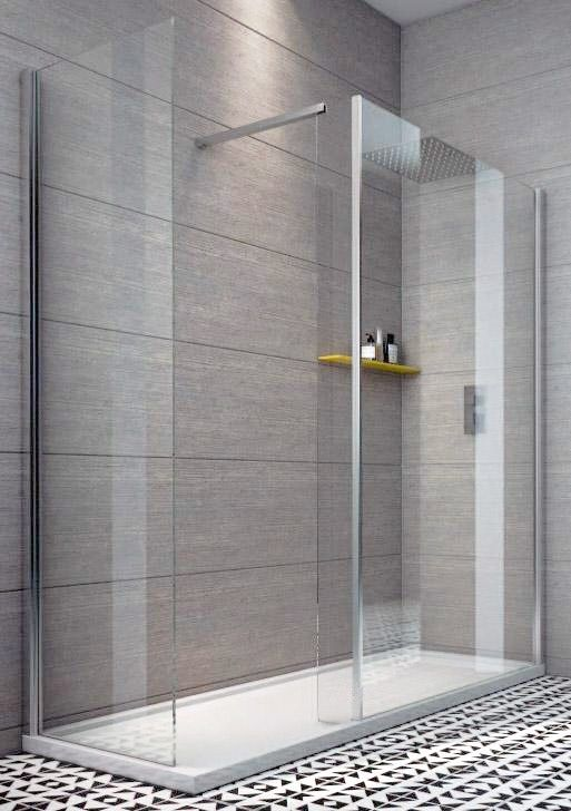 indi x 800 8mm walk in shower enclosure inc tray and waste 1400x800