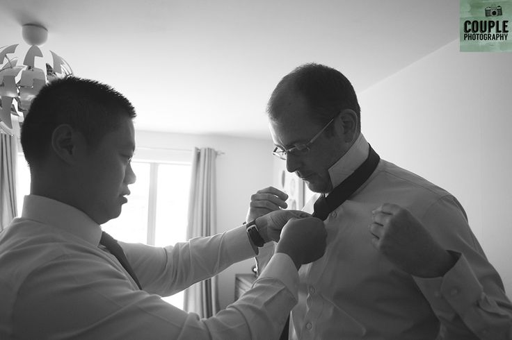 I forget how to do my tie! Real Wedding by Couple Photography