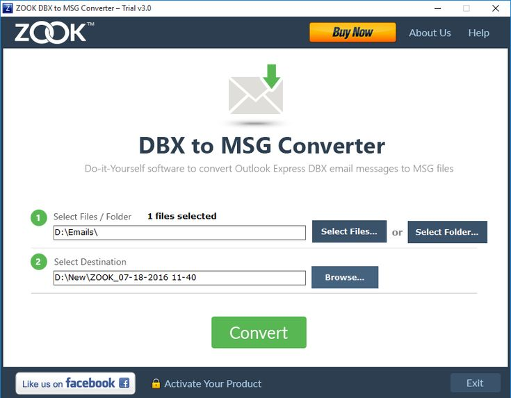 convert DBX into MSG file format outlook express