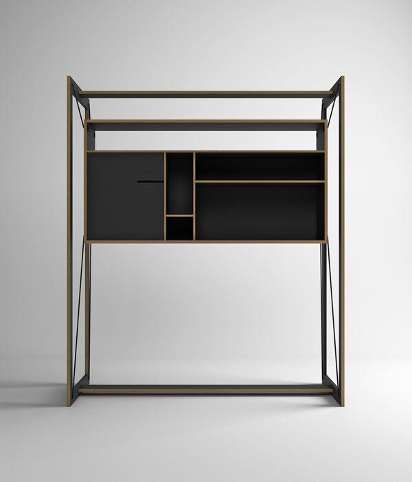 FRAME - Suspended Furniture by Pedro Sousa, via Behance