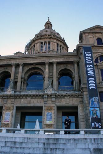 カタルーニャ美術館もスペイン バルセロナ モンジュイックの丘にある。