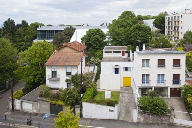 Maison Van Doesburg (1929-1931) 29, rue Charles Infroit Meudon-Val-Fleury 92190. La célèbre maison-atelier construite pour lui-même par l'artiste néerlandais Theo van Doesburg, fondateur du mouvement De Stijl et la revue éponyme.