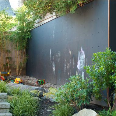 Garden Design Child Friendly i probably wouldn't go to this extreme but a chalk board on the