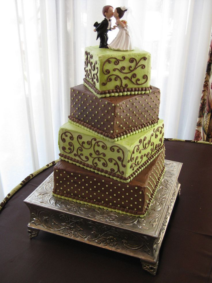 102 best green and brown wedding images on pinterest green green and brown wedding cake junglespirit Gallery
