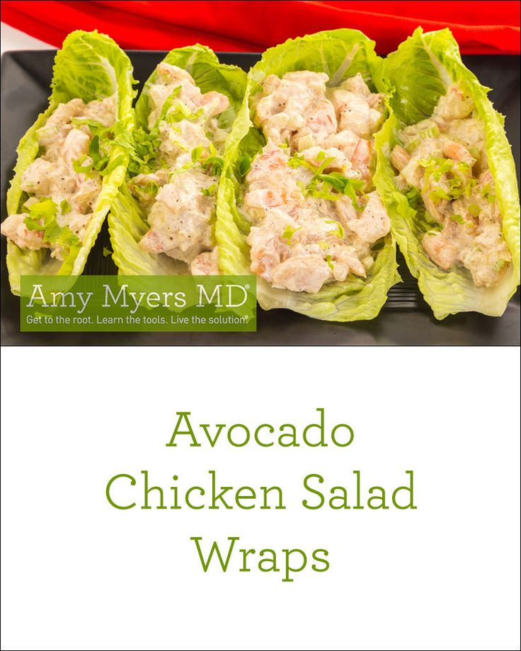The BEST Avocado Chicken Salad Wraps! Dairy-free, gluten-free, Paleo approved easy recipe.