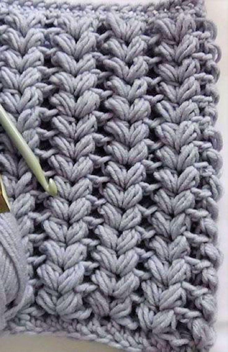 Learn A New Crochet Stitch: Vshaped Puff Stitch (video Tutorial)