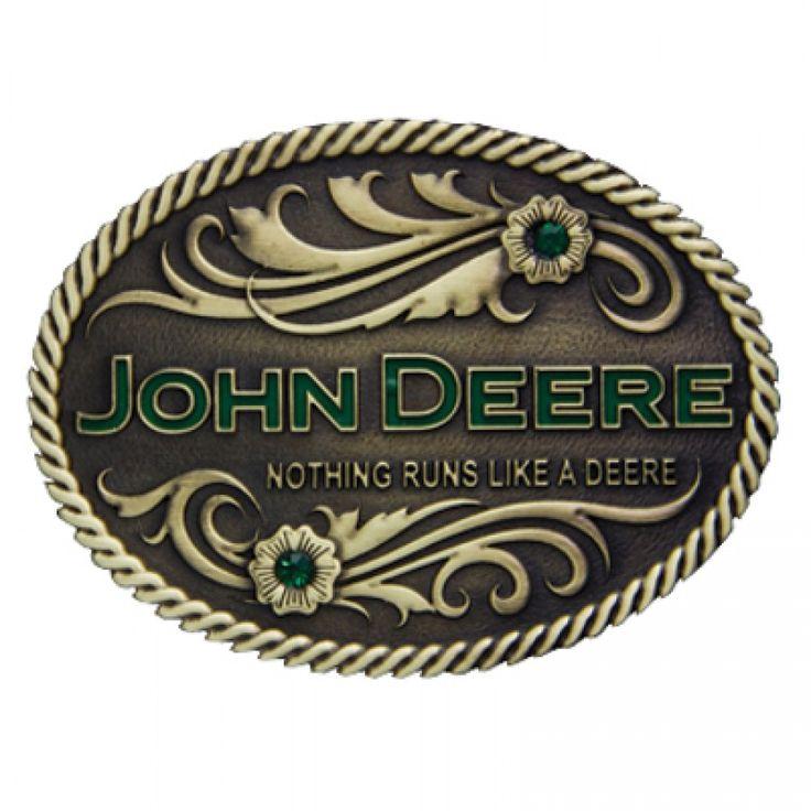 John Deere Nothing Runs Like a Deere Brass Buckle | RunGreen.com