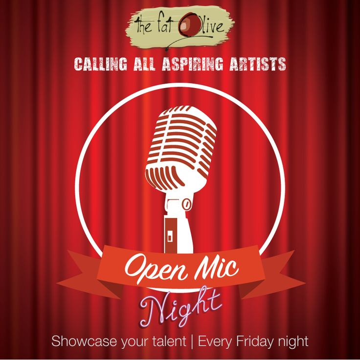Calling all aspiring musicians! We are introducing an Open Mic night for you to showcase your talents! If you are interested in performing at our open mic night, please send your CV and a demo or your tube link to paula@thefatolive.co.za