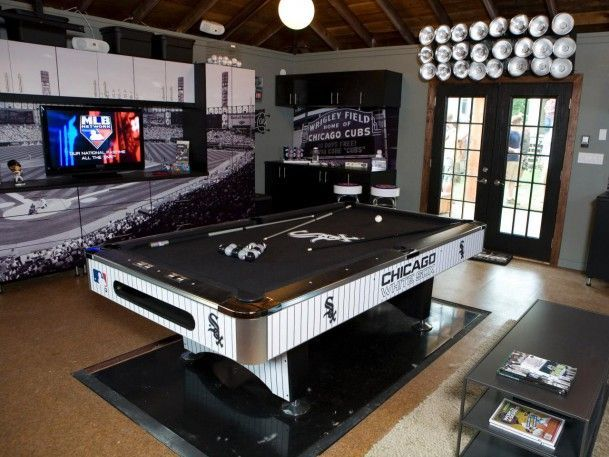 Awesome Man Cave Accessories : Home cool man cave ideas and decor billiards table game with