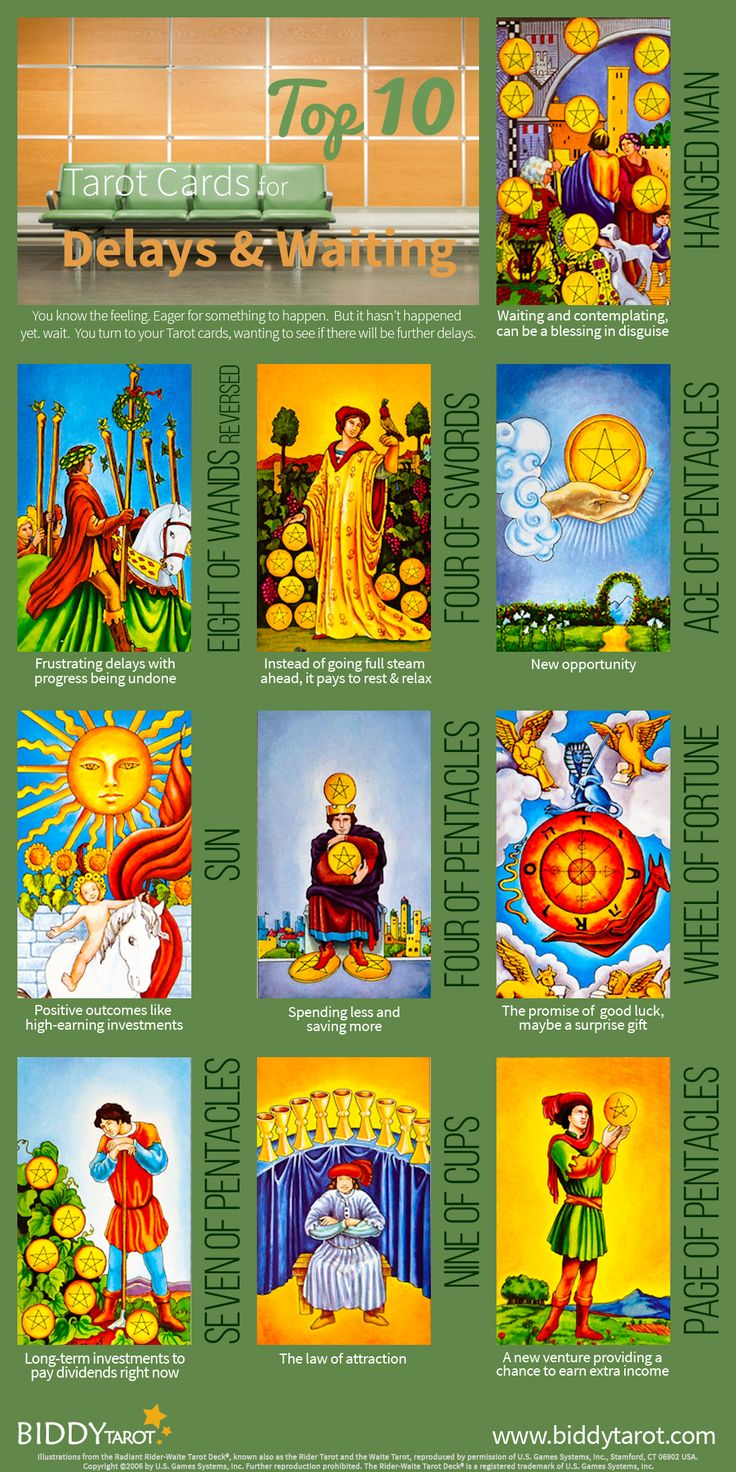 """The #universe has three #answers for those who want something more.  """"No,"""" """"Not yet,""""  and """"I have something better in store."""" These #Tarot cards can help you understand what the universe is telling you while you wait for your ship to come in. Download your free copy of my Top 10 Tarot Cards for love, finances, career, life purpose and so much more at http://www.biddytarot.com/admin/top-10-tarot-cards-ebook. It's my gift to you!"""