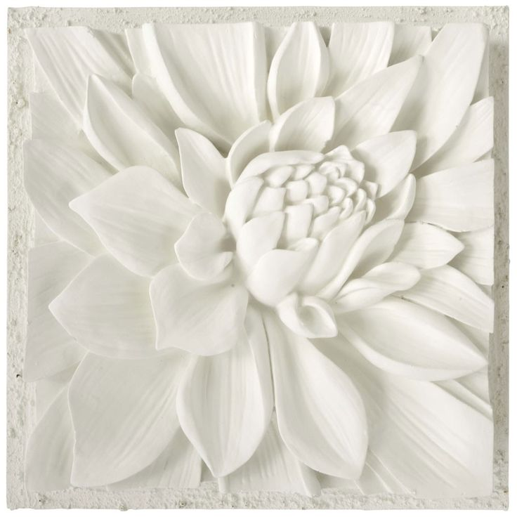 Lotus 3D Plaster Art on Canvas by Bellaarista .. stunning!!!!!!!!!!!!