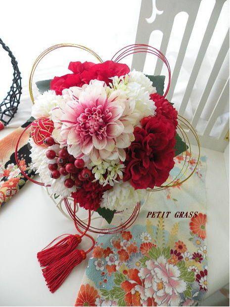 和のブーケ◆和装ブーケ◆2014年春デザイン 前撮り・結婚式・和婚にもおすすめ