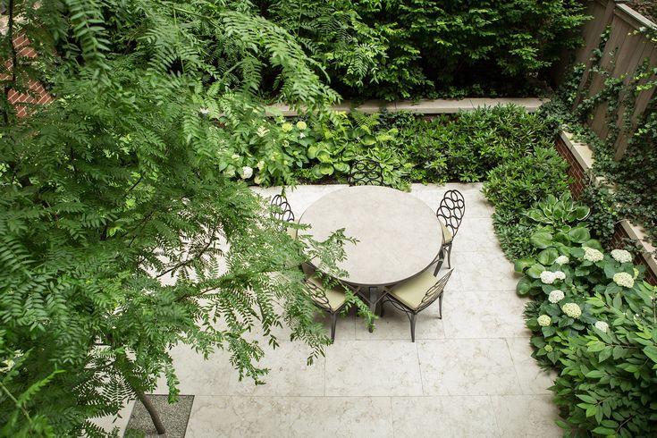 Green & white courtyard | West Village Garden, Harrison Green