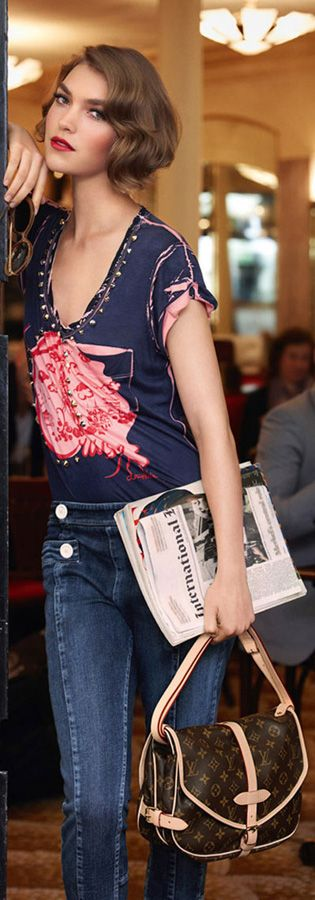 Denim Vuitton- Soft, feminine. Sexy. +Perfect pinch of edge. #highfashion #editorial
