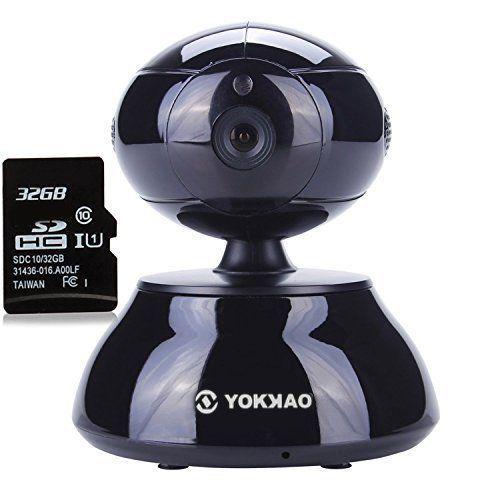 Caméra Wifi Yokkao® Caméra de Vigilance KK001 IP de surveillance Pan/Tilt d'intérieur haute Définition HD 720 P Capteur CMOS Compression…
