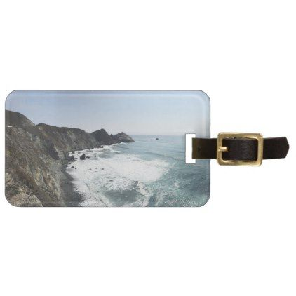 #BIG SUR California Pacific Coast Highway Luggage Tag - #travel #trip #journey #tour #voyage #vacationtrip #vaction #traveling #travelling #gifts #giftideas #idea