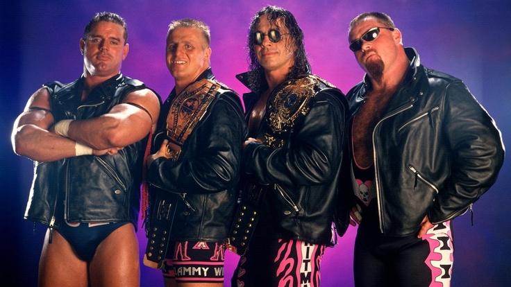 The Hart Foundation (British Bulldog, Owen Hart, Bret Hart and Jim Neidhart)