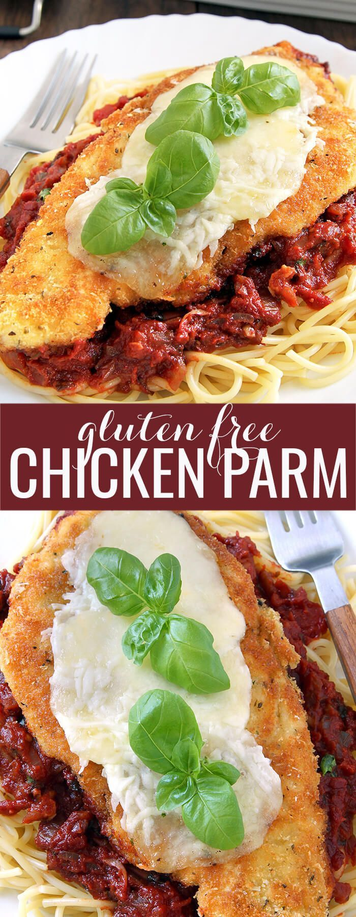 Try this easy recipe for gluten free chicken parmesan and enjoy tender, juicy chicken breasts with the beautifully crisp crust that you remember. Mangia!