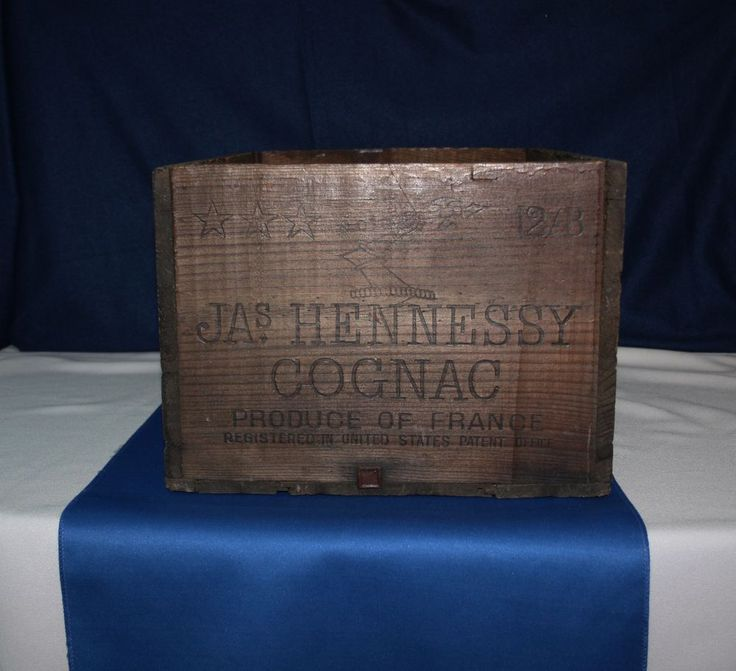 RARE Vintage JAs Hennessy 12 bottle French Cognac Brandy Wooden Shipping Crate #Hennessy