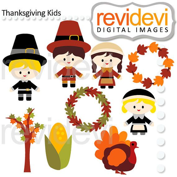 Thanksgiving Kids Cliparts 08130.. Boys girls turkey by revidevi