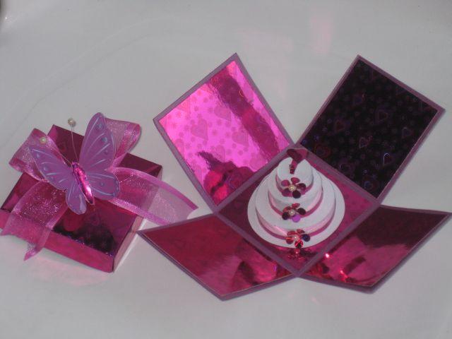 Invitación Quince Caja torta miniatura