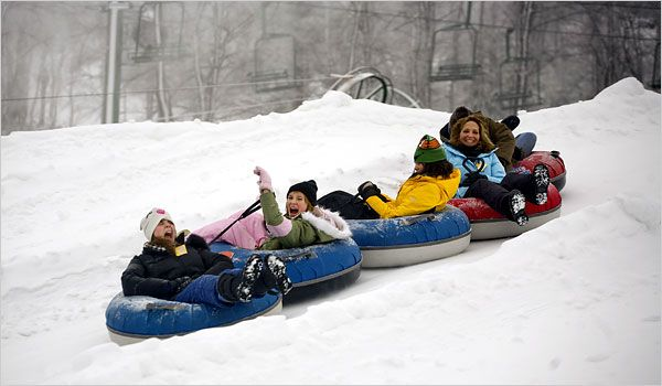 Winter Weekends - Tubing in the Poconos - NYTimes.com