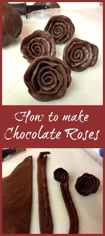 How to make Chocolate Roses- {Easy Modeling Chocolate Tutorial}