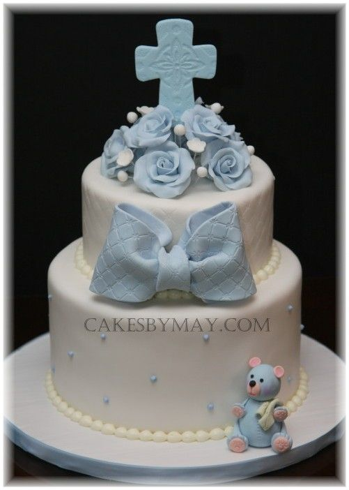 Boy baptism cake.
