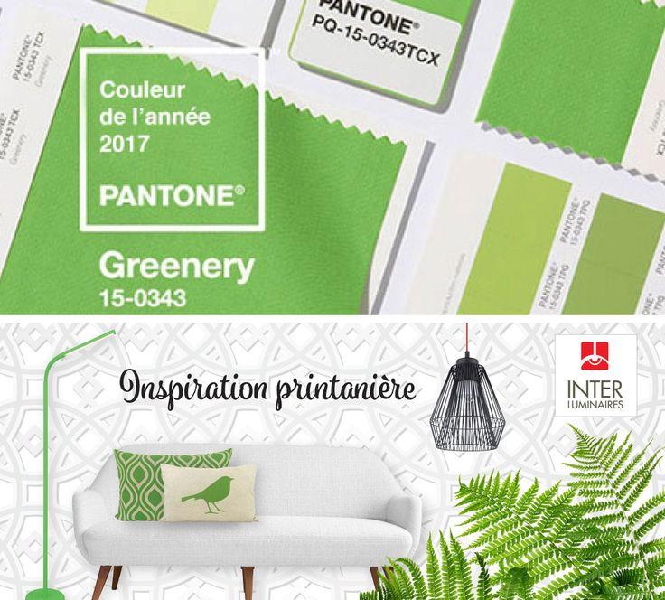 #INTERLuminaires est en mode #inspiration printanière. Comme en fait preuve la couleur Pantone Greenery, la verdure éclate en 2017. La reconnexion avec la nature inspire les plus beaux décors!  Passez voir nos #spécialistes en magasin.