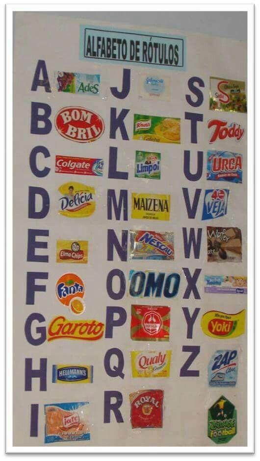 Alfabeto de embalagens                                                                                                                                                                                 Mais