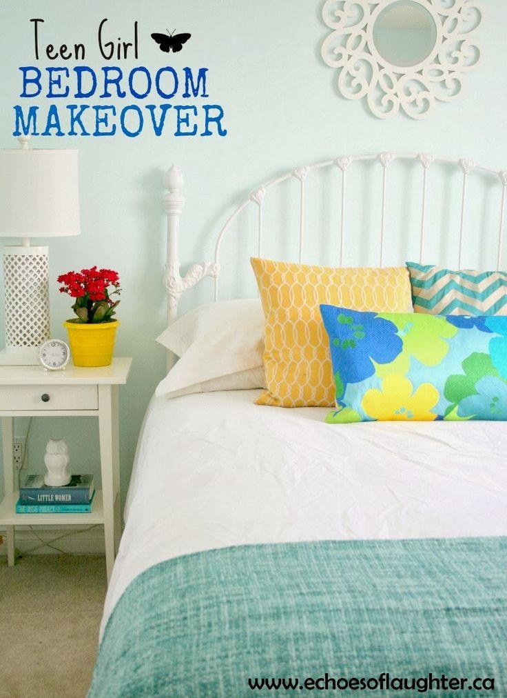 Benjamin Moore: blue bonnet Echoes of Laughter: Teen Girl Bedroom Makeover