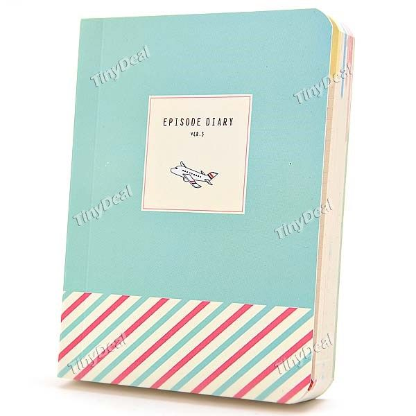 Cute Mini Diary Paper Notebook Notepad Pocketbook Jotter - Assorted Color OSN-294391