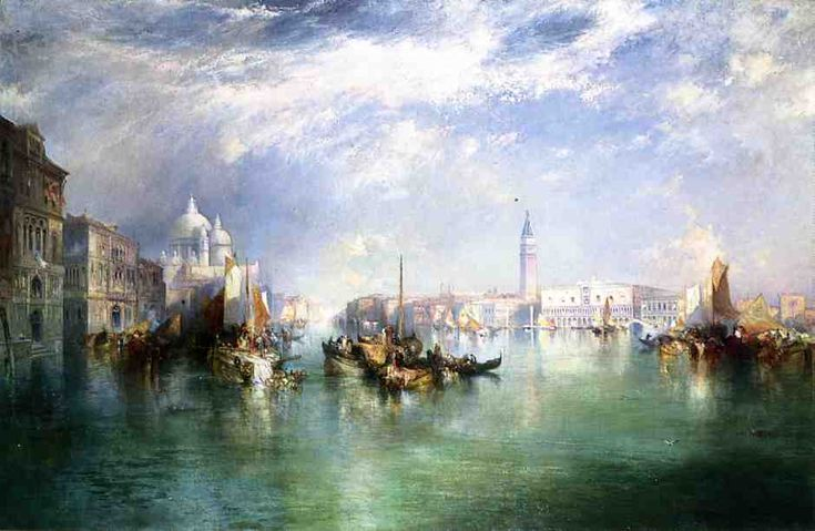 """""""Entrance to the Grand Canal, Venice"""" by Thomas Moran"""