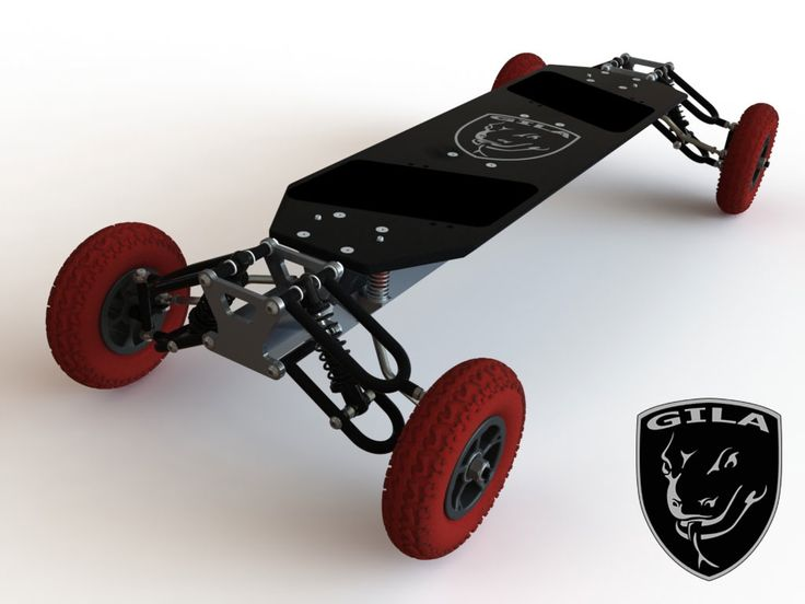 GILA BOARD - skateboard.  The ultimate on-road & off-road riding experience, custom built with your choice of rims, tires, & bindings.