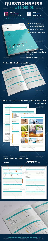 Questionnaire Web Design - Miscellaneous Print Templates