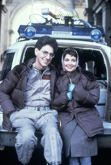 "Egon Spengler was the handsomest Ghostbuster.   RIP Harold Ramis - on set with Annie Potts while filming ""Ghostbusters"", circa 1983http://best-of-imgur.tumblr.com"