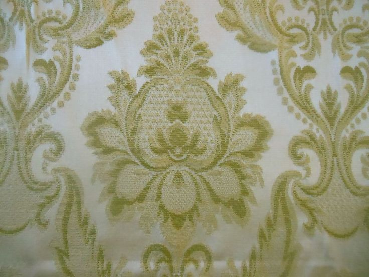 Vintage Soft Green Damask Fabric Upholstery Projects